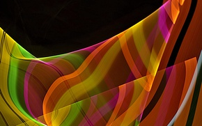 Picture rays, line, strip, color, bending, track
