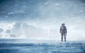 Wallpaper winter, landscape, soldiers, Battlefield 4