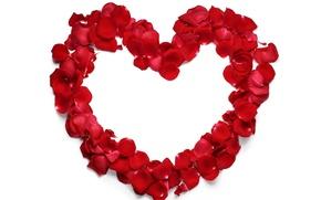 Picture love, heart, love, rose, heart, romantic, petals