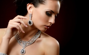 Picture luxury, necklace, earrings