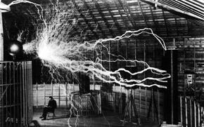 Wallpaper Tesla, Nicola, electricity