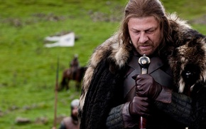 Picture sword, armor, fur, banner, Game of Thrones, game of thrones, Sean bean
