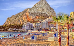 Picture sea, beach, rock, stay, mountain, resort