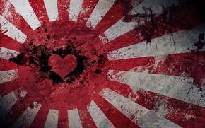 Wallpaper heart, Japan, flag, Japan, love, flag, hearth