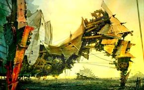 Picture design, robot, steampunk, steampunk