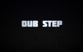 Picture letters, black background, Dub Step