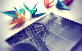 Picture photo, Eiffel tower, crane