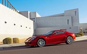 Picture Ferrari, Ferrari, red, GTB, 599