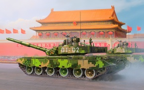 Picture war, art, painting, tank, Type 99 Main Battle Tank