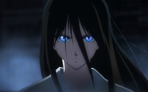 Picture hatred, black hair, in the dark, Kara no Kyoukai, the garden of sinners, evil eye, …