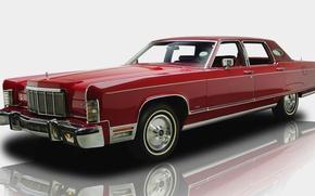 Picture retro, car, Lincoln Continental