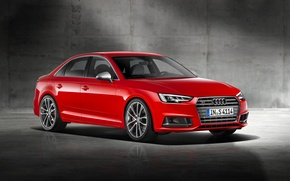 Wallpaper Audi, Audi, Red, red, Sedan, 2015