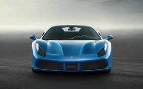 Picture supercar, the front, Spider, Ferrari 488