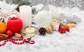 Picture snow, decoration, New Year, Christmas, Christmas, New Year, decoration, Merry