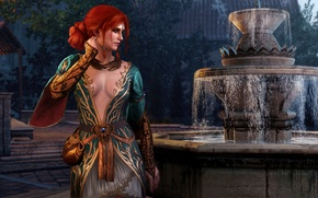 Picture game, clothing, outfit, fountain, red, red, witch, the Witcher, the witch, games, the enchantress, witcher, …