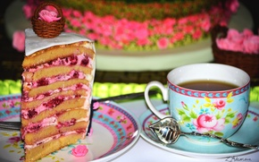 Picture tea, cake, dessert