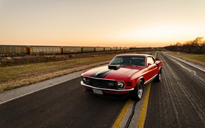 Picture Mustang, Ford, Red, 1970