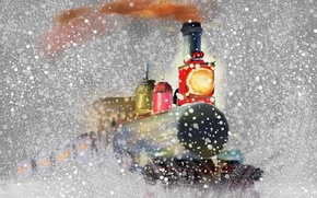 Picture snow, holiday, the engine, picture, Christmas Express