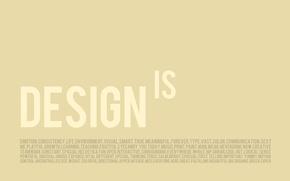 Wallpaper minimalism, creative, design, words, letters, design