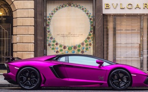 Picture Lamborghini, Lamborghini, supercar, sports car, London, Aventador, purple, aventador, Luxury, LP760-4