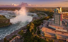 Picture the sky, river, home, stream, Niagara falls
