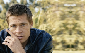 Picture look, male, Brad Pitt, Brad Pitt, actor, producer