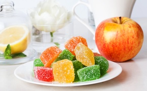 Picture lemon, apple, Apple, dessert, sweet, delicious, sweet, marmalade, jelly