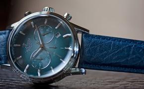 Picture Blue, Steel, Watch, Leather, Jack Pierre