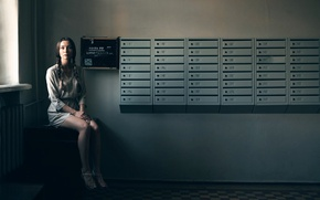 Picture girl, legs, mailboxes, Dorm, Xenia