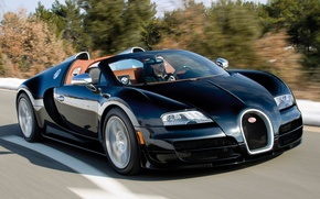 Picture road, coupe, supercar, bugatti