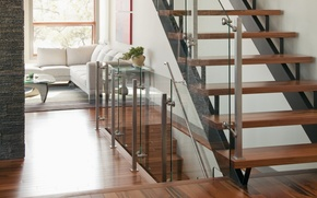 Wallpaper white, glass, design, room, sofa, tree, interior, window, ladder