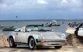 Picture 911, Porsche, Retro, Car, Carrera, Speedster, 1989, Silver