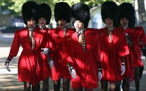 Picture hat, gloves, legs, cabaret, guard, Crazy Horse, soloist