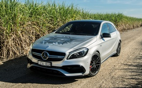 Picture Mercedes-Benz, White, Tuning, Car, AMG, 4MATIC, 2016, A, 45