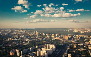 Picture The city, Moscow, Landscape