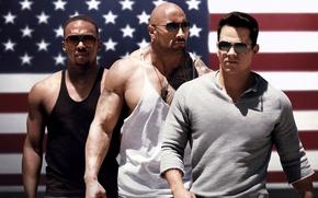 Picture cross, flag, glasses, USA, muscles, Mark Wahlberg, Dwayne Johnson, Dwayne Johnson, Mark Wahlberg, Daniel Lugo, …
