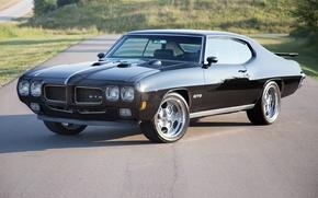 Picture Black, Pontiac, GTO, 1970