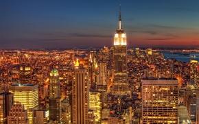 Picture road, machine, the sky, light, machine, night, lights, city, Windows, road, home, skyscrapers, window, America, …