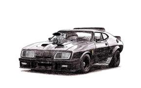 Picture Auto, Figure, Ford, Car, Car, Art, Auto, Mad Max, Supercharger, Mad Max, V8, Ford Falcon ...