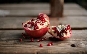 Wallpaper seeds, the flesh, table, garnet, red