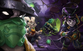 Picture rabbit, family, art, statue, Golem, naked, Pandaren, family, clan, Hearthstone: Heroes of Warcraft, Hearthstone, a …