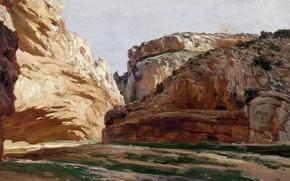Wallpaper picture, The gorge of Jaraba, in Aragon, Carlos de Haes, landscape