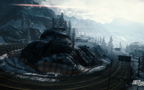 Picture winter, road, snow, mountains, race, NFS, Need For Speed, rivals, zaninotto