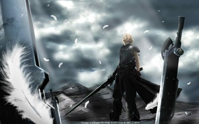 Picture weapons, anime, advent children, cloud, finalka, final fantasy 7
