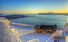 Picture sea, boat, Greece, resort