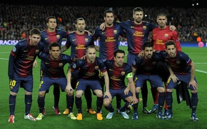 Picture Sport, Football, Lionel Messi, Lionel Messi, Barcelona, Javi, Football, David Villa, David Villa, Composition, Andres ...