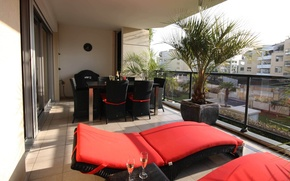 Picture design, the city, style, interior, balcony, furnished