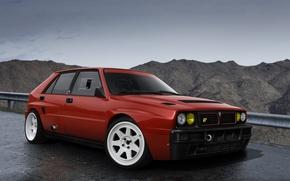 Picture Red, Car, Lancia, Delta, Integrale