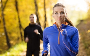 Picture autumn, running, sportswear, outdoor training