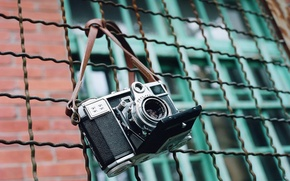 Picture background, the fence, camera